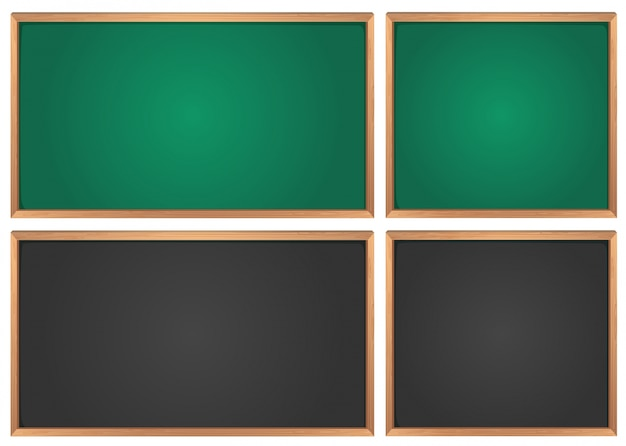Tafeln in grün und schwarz
