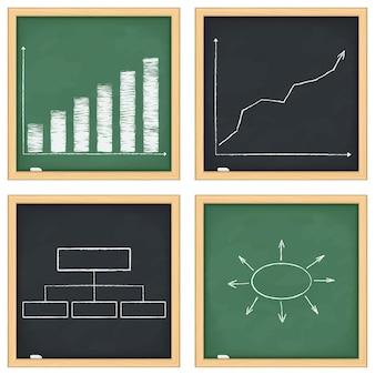 Tafeln mit grafiken und diagrammen