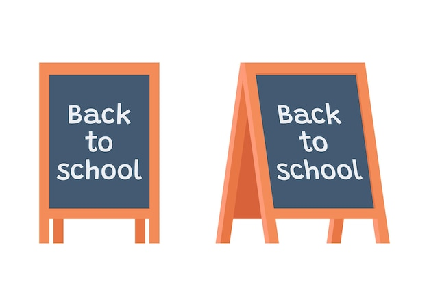 Tafelständer tafel über bildung mit titel zurück in die schule sandwich-board-schule