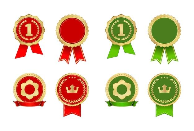 Tag award vintage label icon set