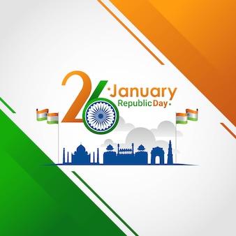 Tag der indischen republik 26. januar