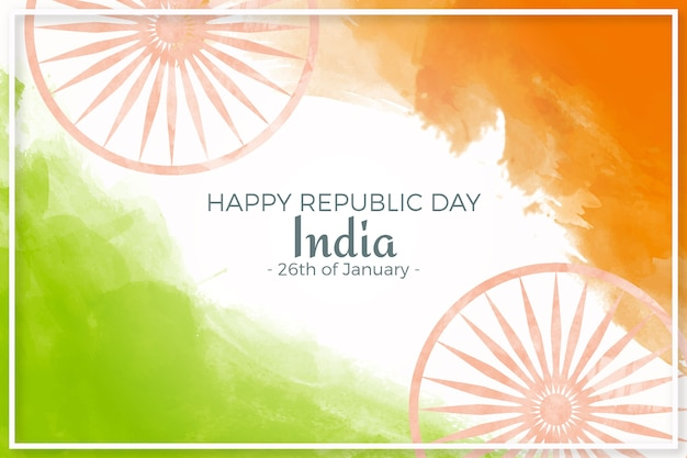 Tag der indischen republik des aquarells