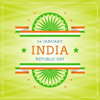 Tag der indischen republik im flachen design