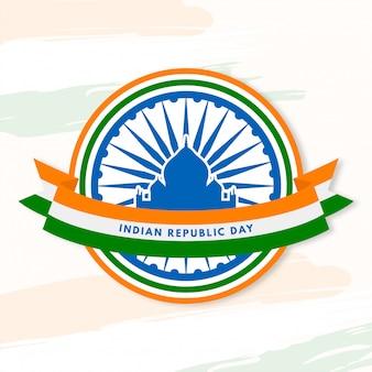 Tag der indischen republik mit ikonischen gebäuden