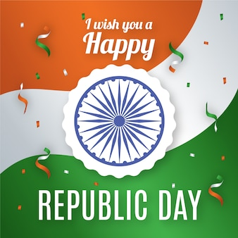 Tag der indischen republik mit konfetti