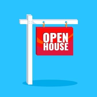 Tag der offenen tür immobilienschild
