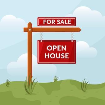 Tag der offenen tür zeichen immobilien