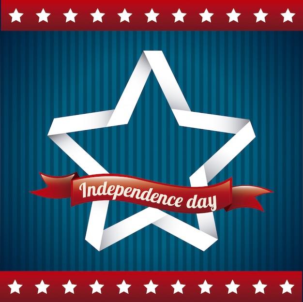 Tag der unabhängigkeit über flagge bakground vektor-illustration
