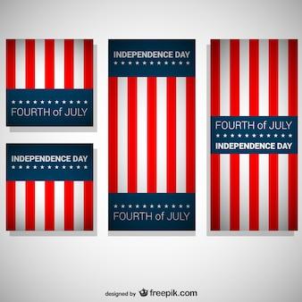 Tag der unabhängigkeit vektor-flags gesetzt