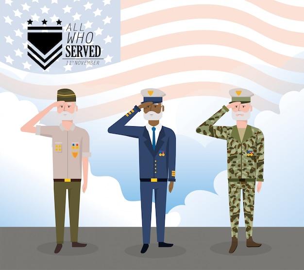 Tag der veteranen, um die streitkräfte zu feiern
