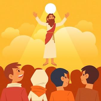 Tag des biblischen aufstiegs und anhänger