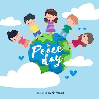 Tag des friedens und der kinder aus aller welt