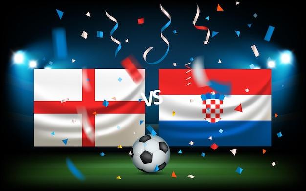 Tag des spiels. england gegen kroatien
