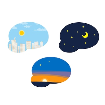 Tag, nacht, abend, himmel