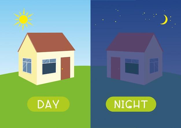 Tag und nacht mit haus
