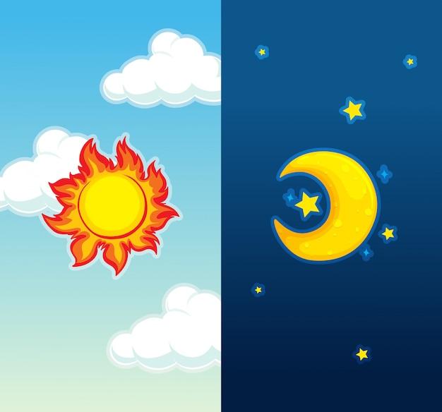 Tag und nacht szene