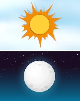 Tag und nachthimmel