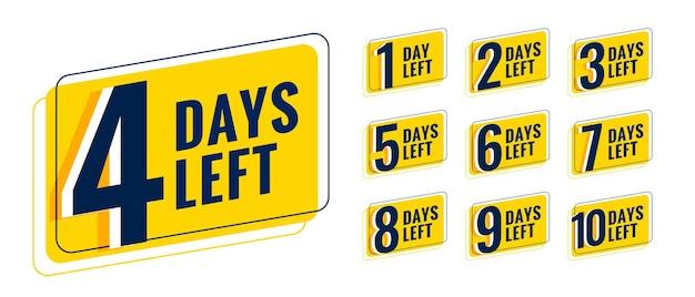 Tage verbleibendes countdown-timer-banner für bevorstehende veranstaltung