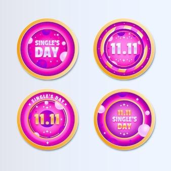 Tagesetikettenkollektion für singles mit farbverlauf