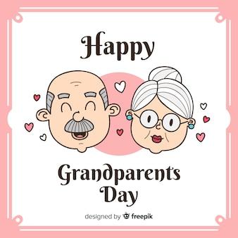 Tageshintergrund der netten großeltern