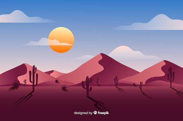 Tageszeit der wüstenlandschaft