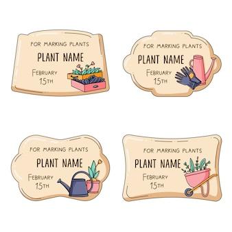 Tags zum markieren von pflanzen