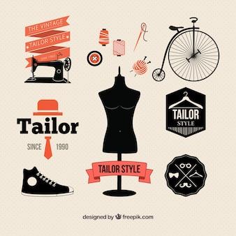 Tailor elemente im retro-stil