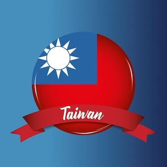 Taiwan flagge