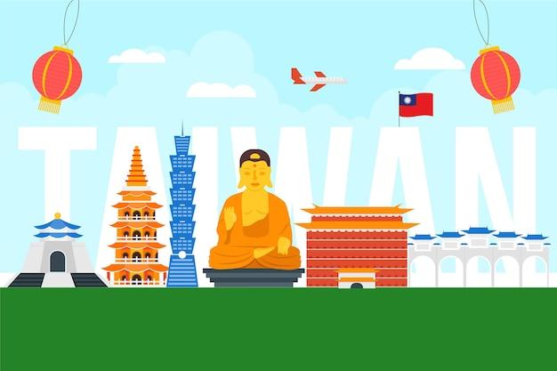 Taiwan wort mit sehenswürdigkeiten