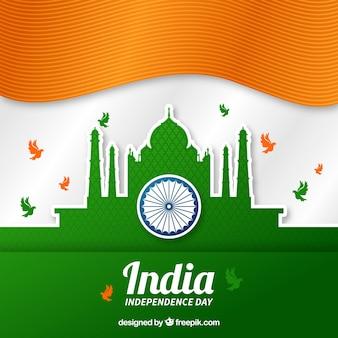 Taj mahal indien unabhängigkeit hintergrund