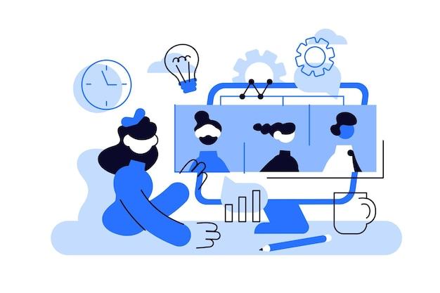 Tamplate für videokonferenz-webseiten.