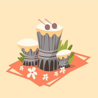 Tamtam-ikonen-sommer-seeferien-konzept-sommerzeit-feiertag