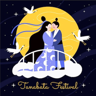 Tanabata festival illustration
