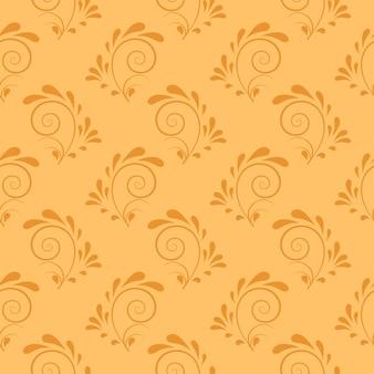 Tangerine-dekorative strudel-hintergrund
