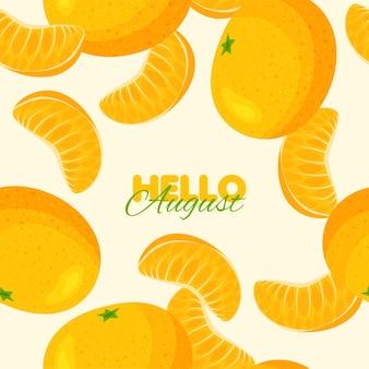 Tangerine nahtlose muster sommer