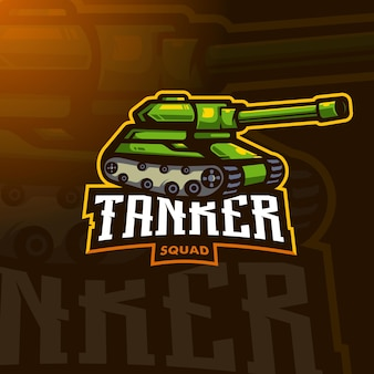 Tanker sport logo design vektor