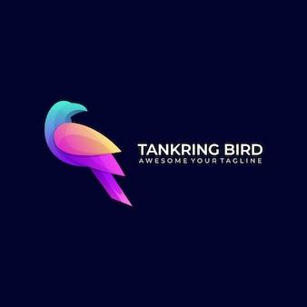 Tankring vogel bunte farbverlauf logo vorlage