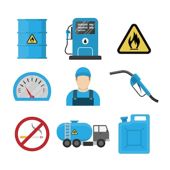 Tankstelle flache design-ikone