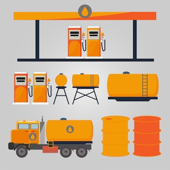 Tankstellentransport und tankstellendienste