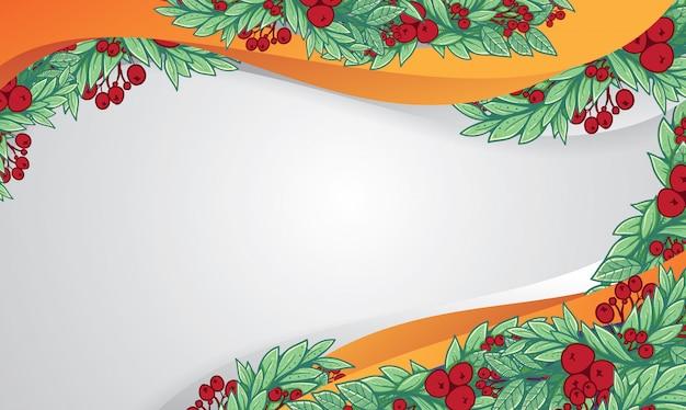 Tannenrahmen für weihnachtliches layoutschokoladenmousse