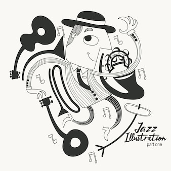 Tanzen jazz guy illustration