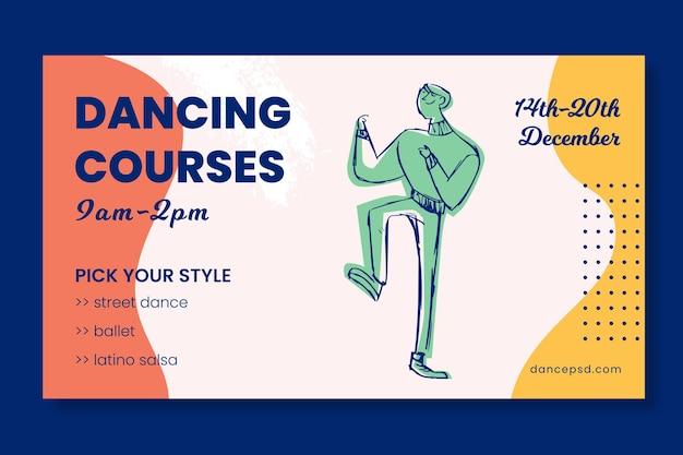 Tanzen kurse schule banner vorlage