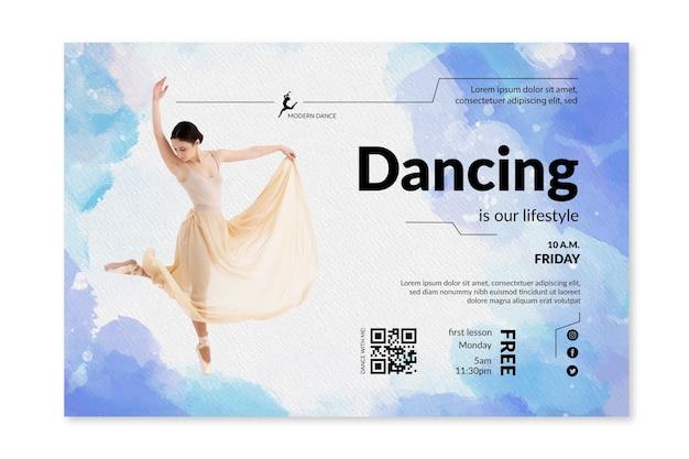 Tanzende banner vorlage
