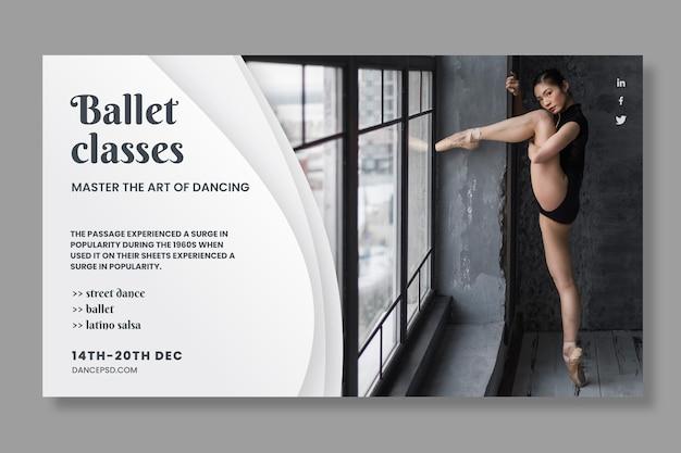 Tanzende bannerschablone mit foto