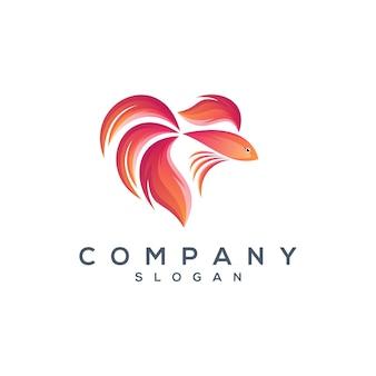 Tanzende fische logo design