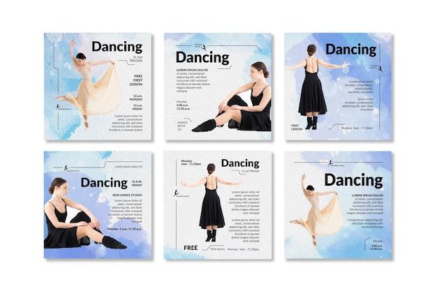 Tanzende instagram-beiträge