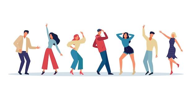 Tanzende leute, die spaßillustration haben