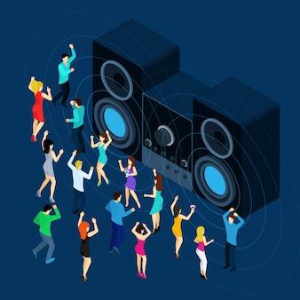Tanzende männer und frauen