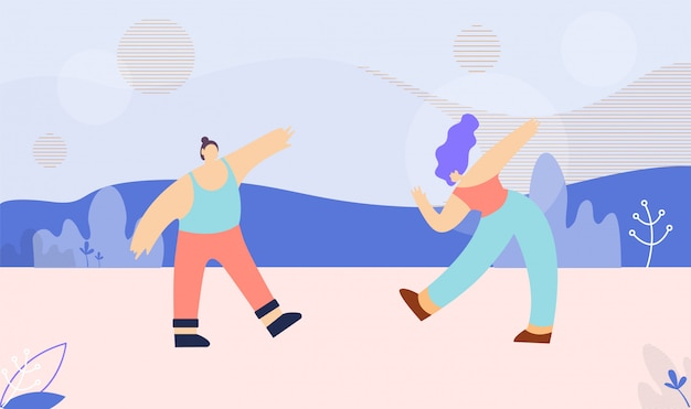 Tanzende multi ethnische paar-flache fahnen-schablone
