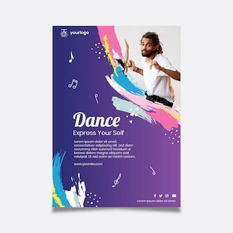 Tanzende partyplakatschablone
